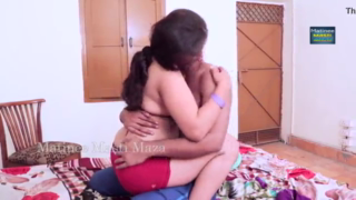desi Hot Indian Couple ready for sex in close door